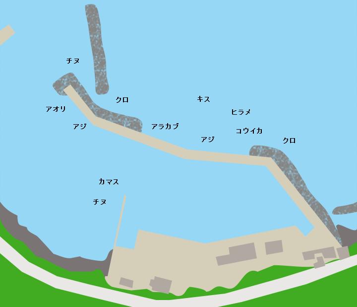 硯石港ポイント図