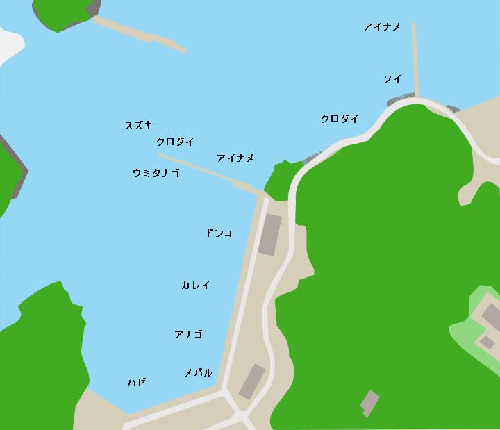 福貴浦漁港ポイント図