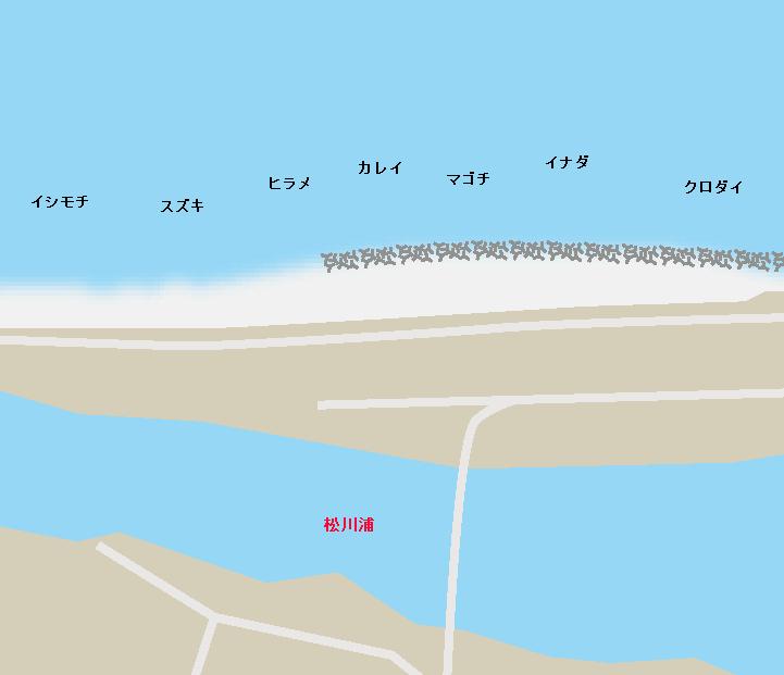 大洲海岸ポイント図