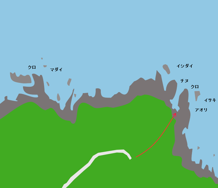 火崎灯台周辺ポイント図