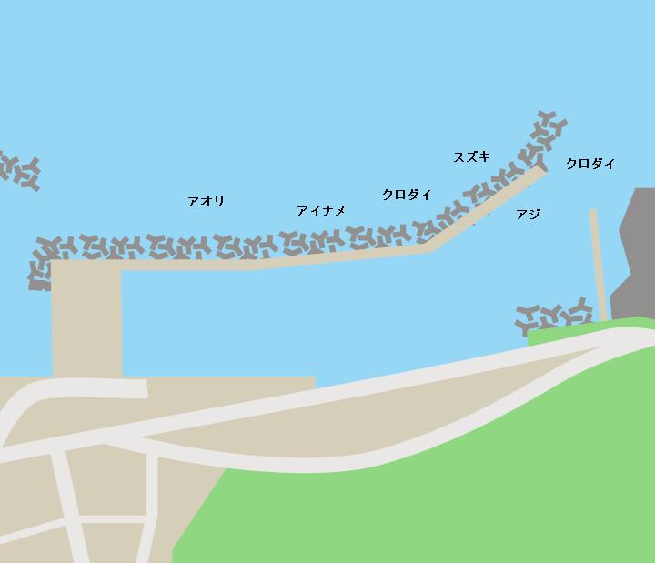金沢漁港ポイント図