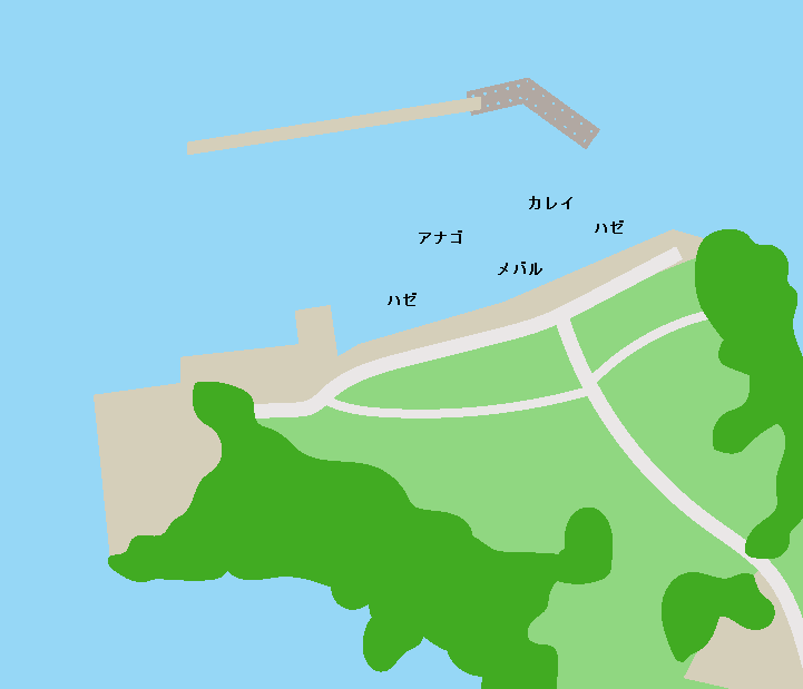 名籠漁港ポイント図