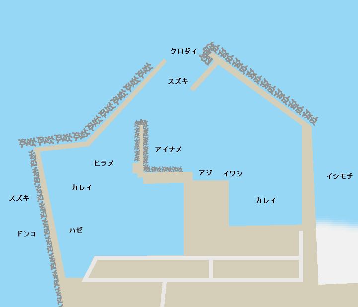 請戸漁港ポイント図