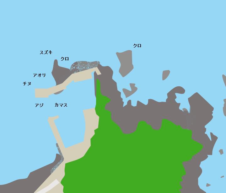 辺塚漁港ポイント図
