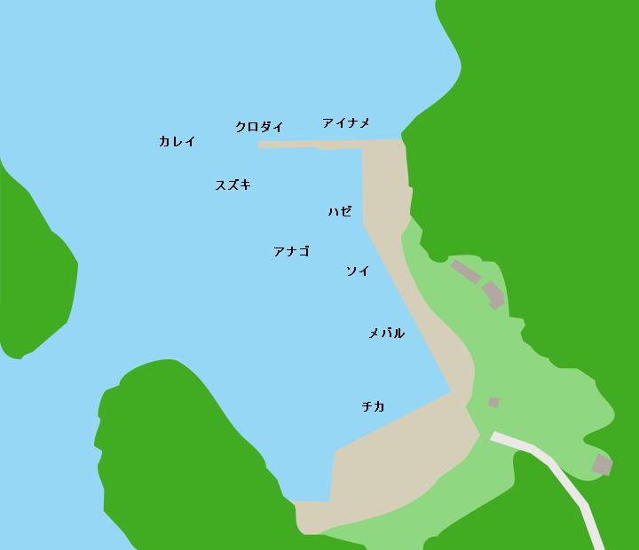 月浦漁港ポイント図