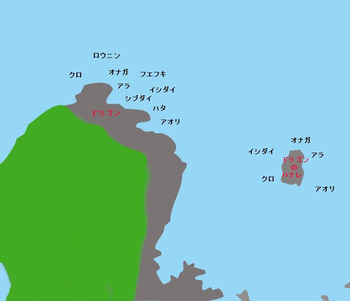 口永良部島ドラゴンポイント図