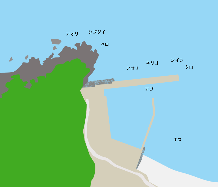 浜尻港ポイント図