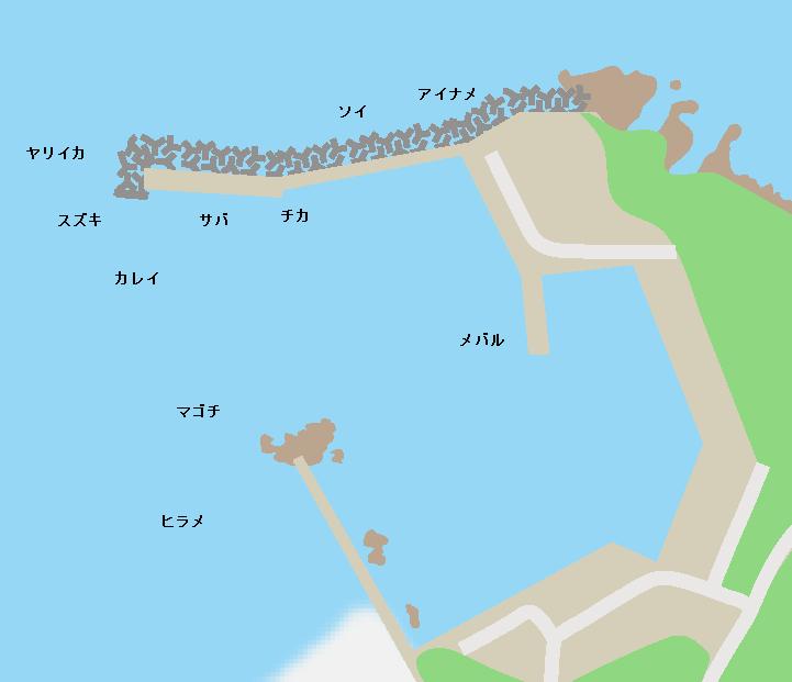 日門漁港ポイント図