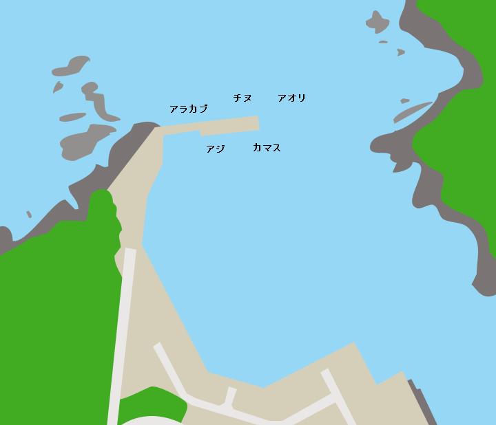 間泊港ポイント図