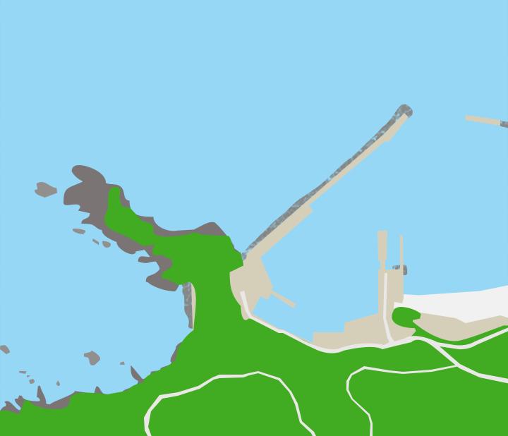 網地島網地漁港ポイント図