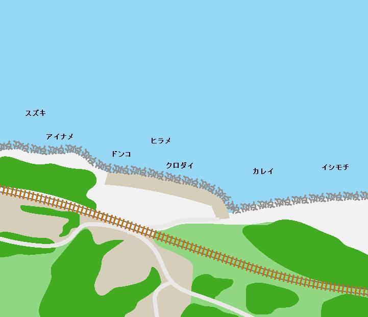 夕筋海岸ポイント図