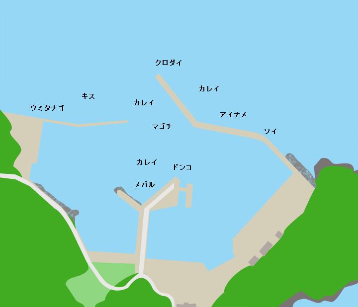 田代島仁斗田港ポイント図