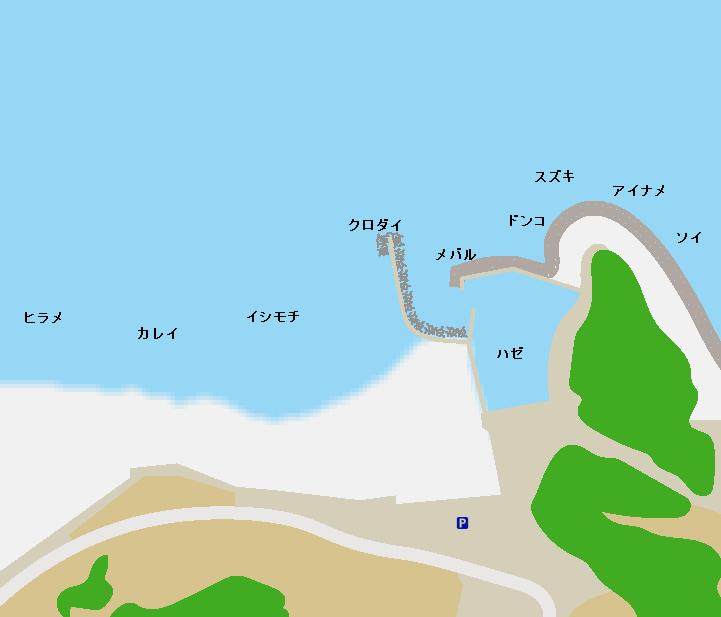 薄磯海岸ポイント図