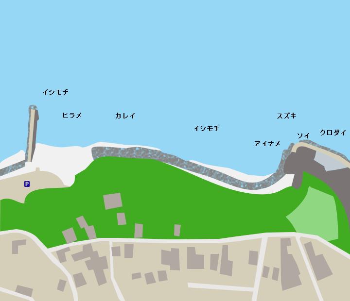 水木海岸ポイント図