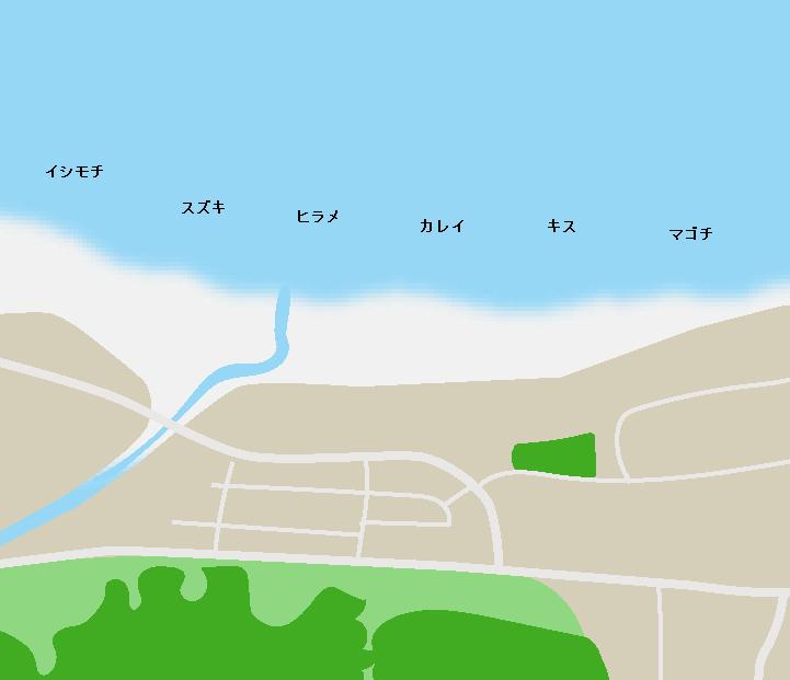 合磯海岸ポイント図