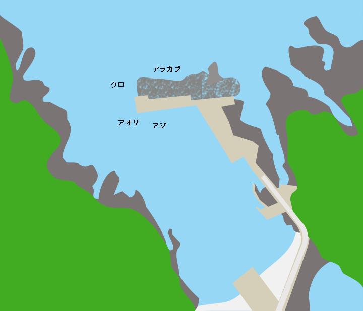 島泊港ポイント図