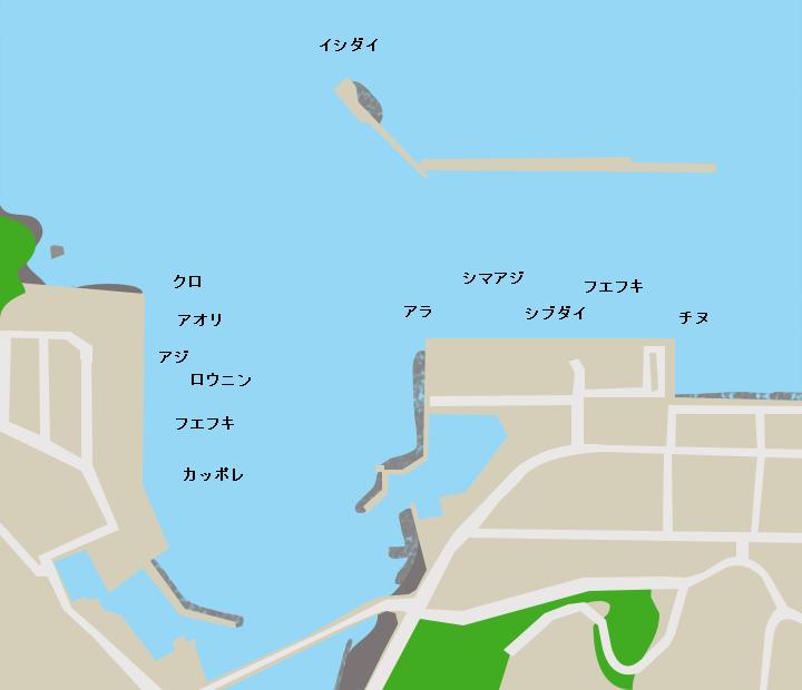 徳之島亀徳港ポイント図