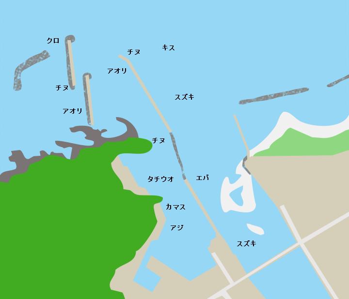根占港ポイント図
