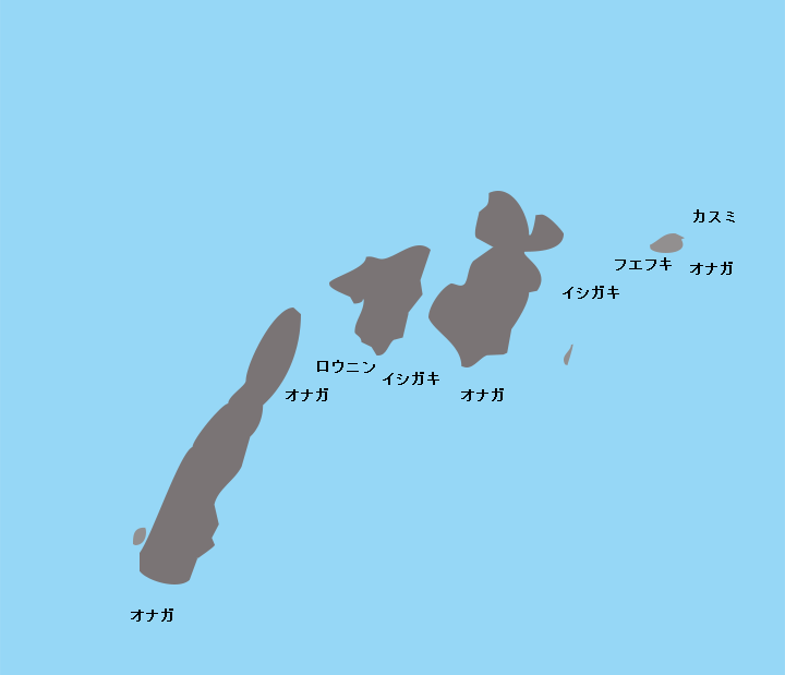 徳之島トンバラ岩ポイント図
