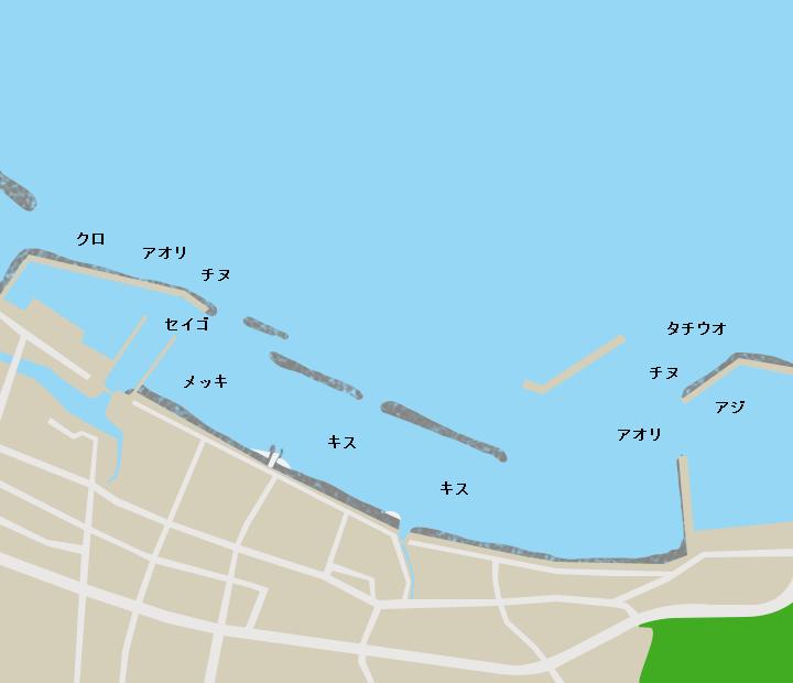 大根占港ポイント図