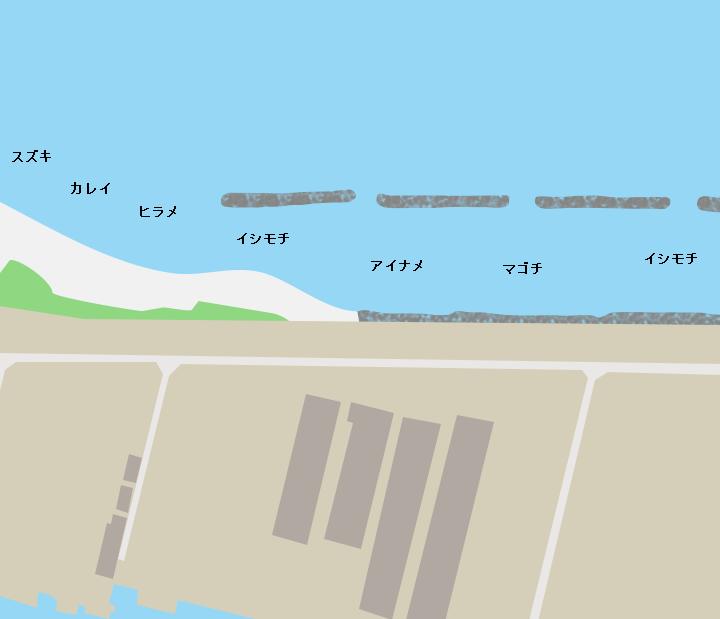 大曲浜ポイント図