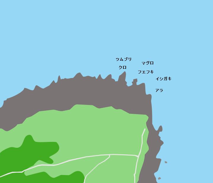 徳之島犬田布岬ポイント図