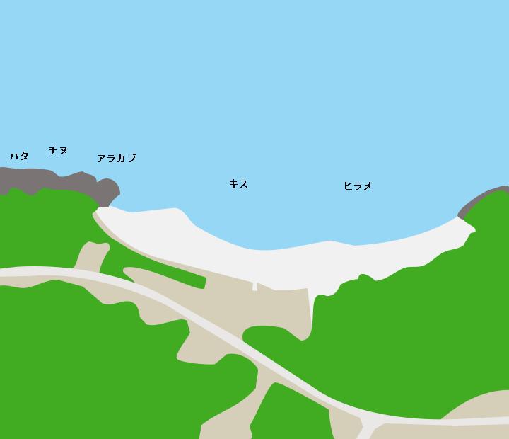 まさかり海水浴場ポイント図