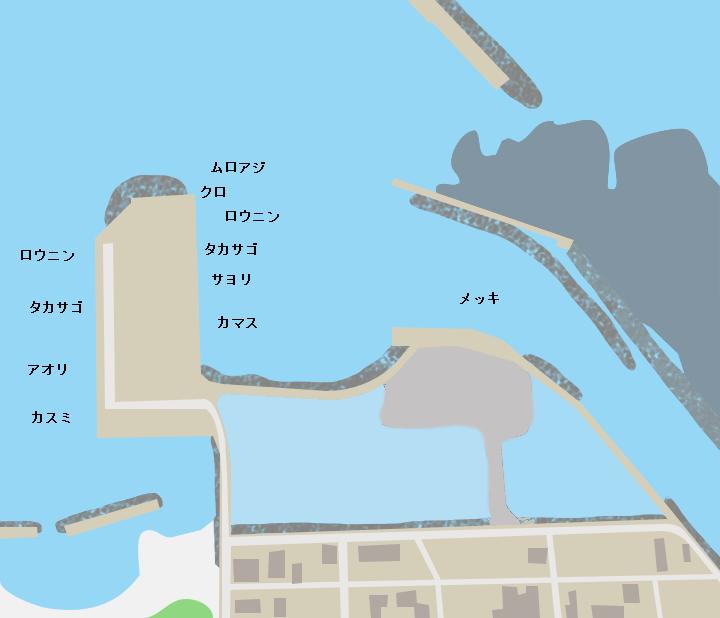 沖永良部島和泊港ポイント図