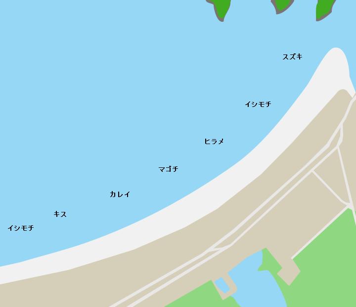 野蒜海岸ポイント図