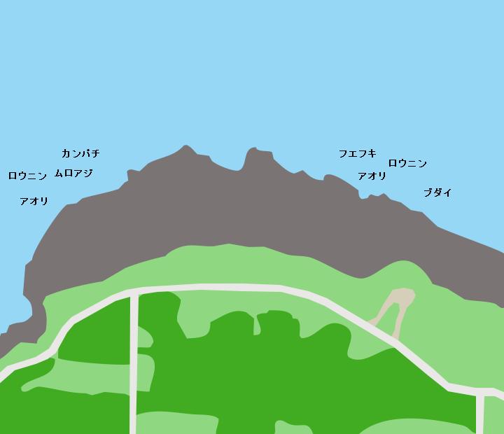 沖永良部島フーチャポイント図