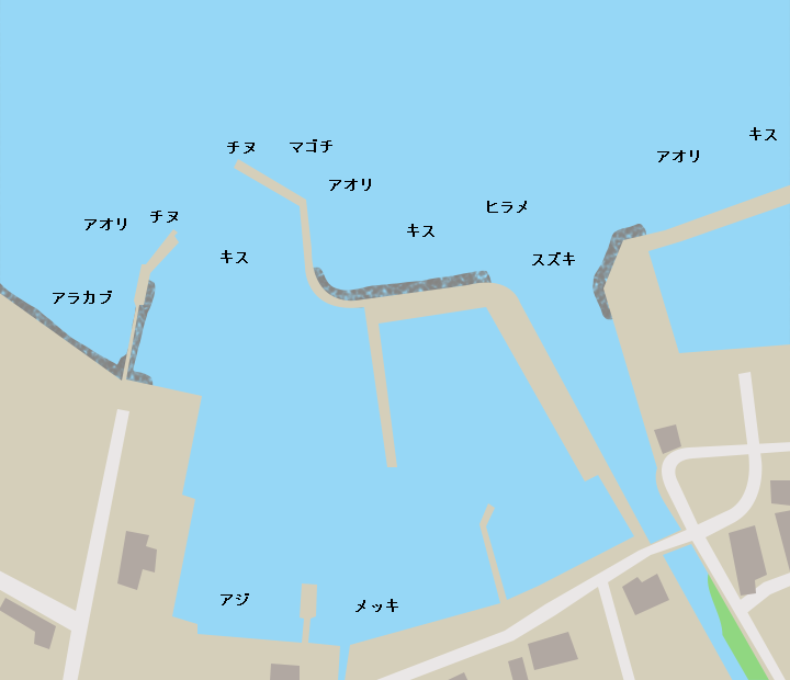 垂水旧港ポイント図