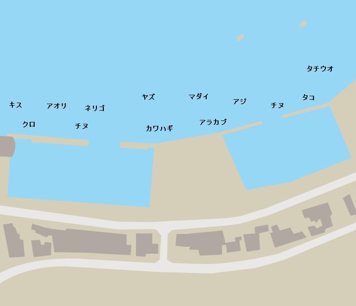 海潟港ポイント図
