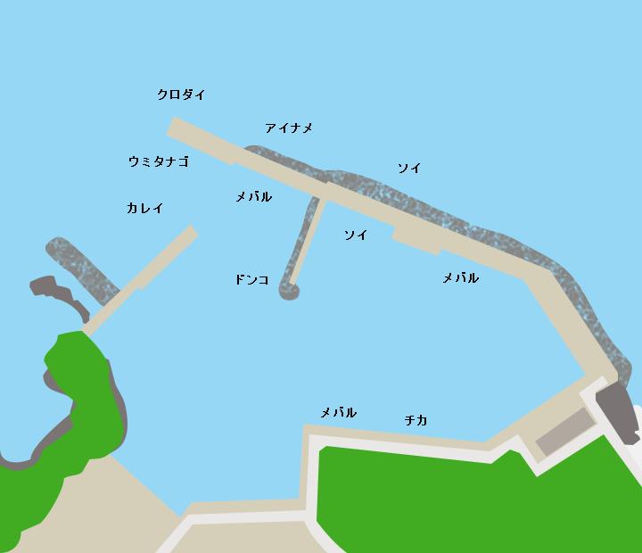 室浜漁港ポイント図