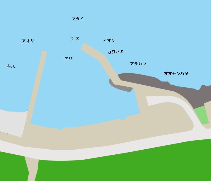 二川漁港ポイント図