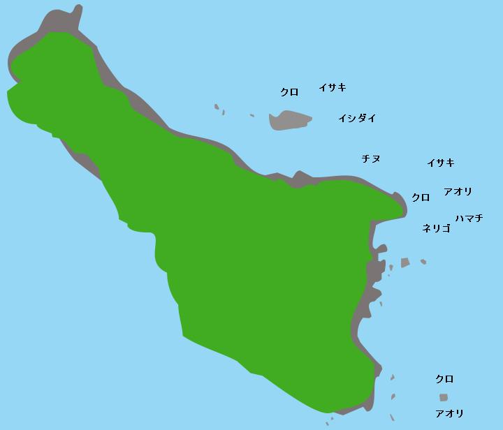 沖小島ポイント図