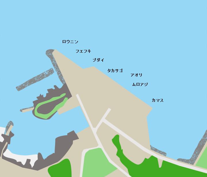 与論島茶花港ポイント図