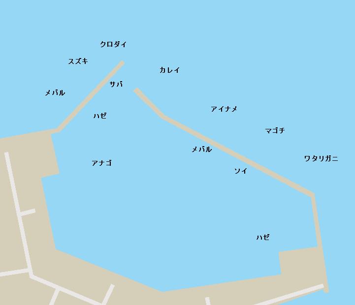 東宮浜港ポイント図