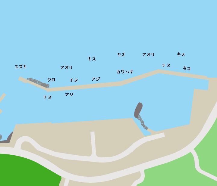 浮津港ポイント図