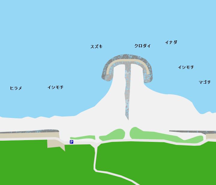 冷水海岸ポイント図