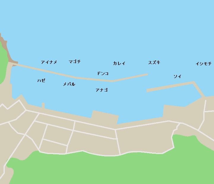 代ヶ崎漁港ポイント図