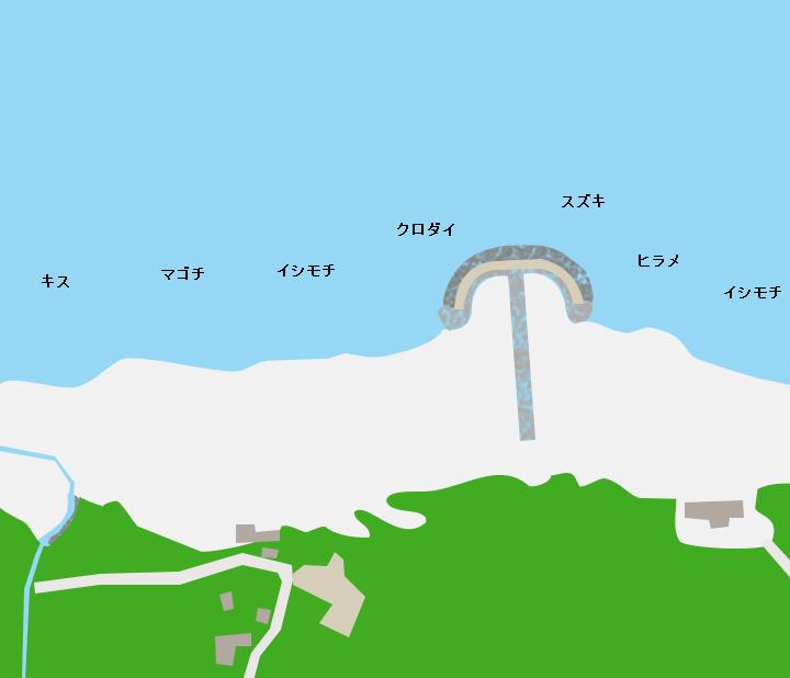 滝浜エメラルドビーチポイント図
