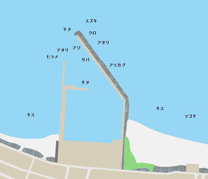 国分漁港ポイント図