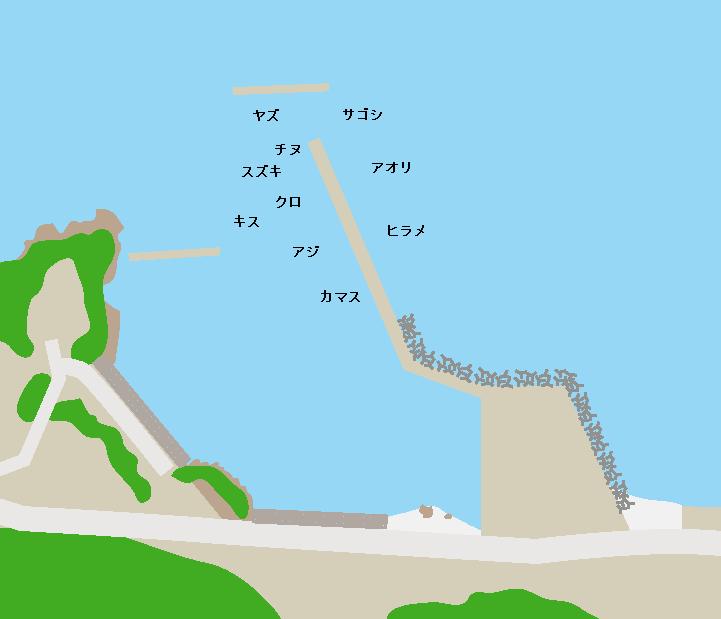 平川ヨットハーバーポイント図