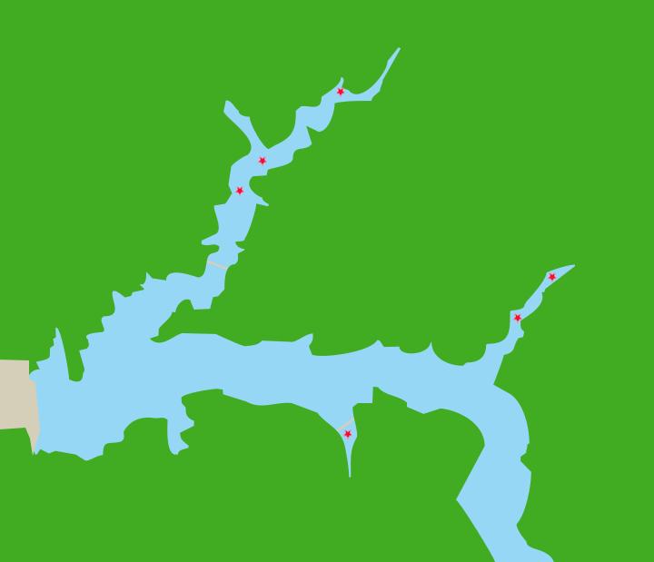 大鶴湖ポイント図