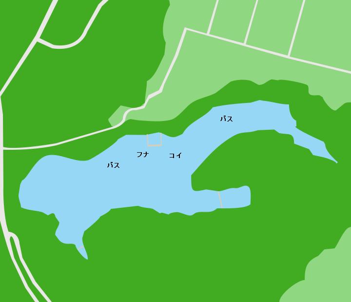 薩摩湖ポイント図