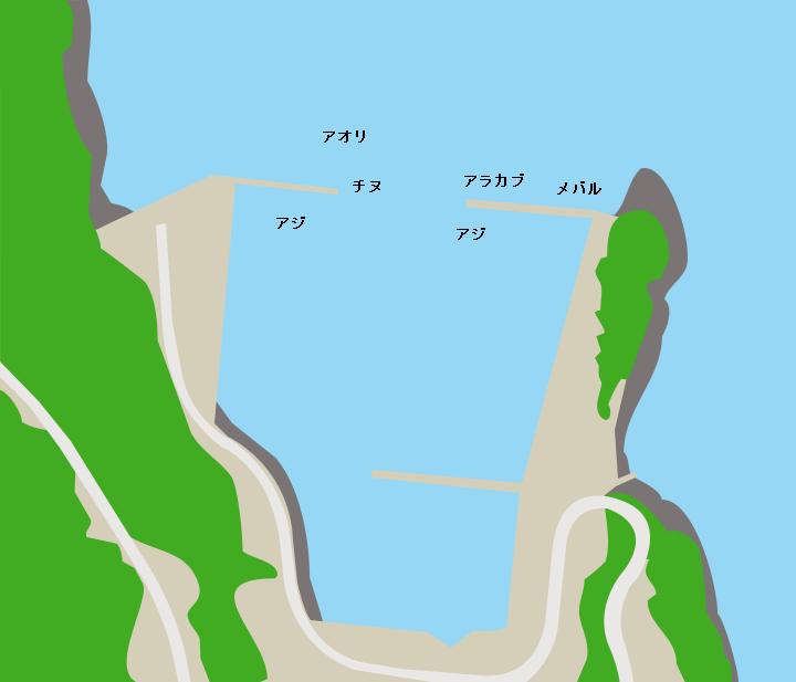諸浦島本浦港ポイント図
