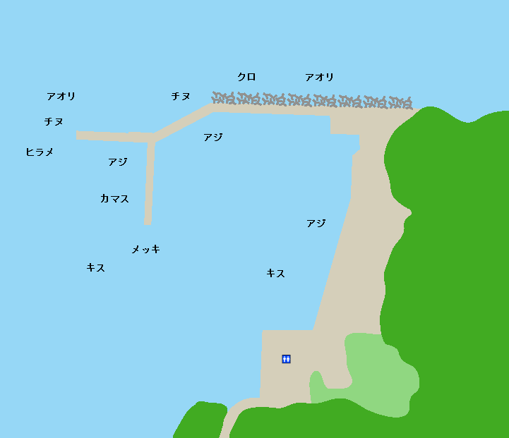 児ヶ水漁港ポイント図