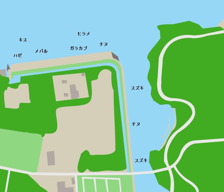 津奈木川河口ポイント図