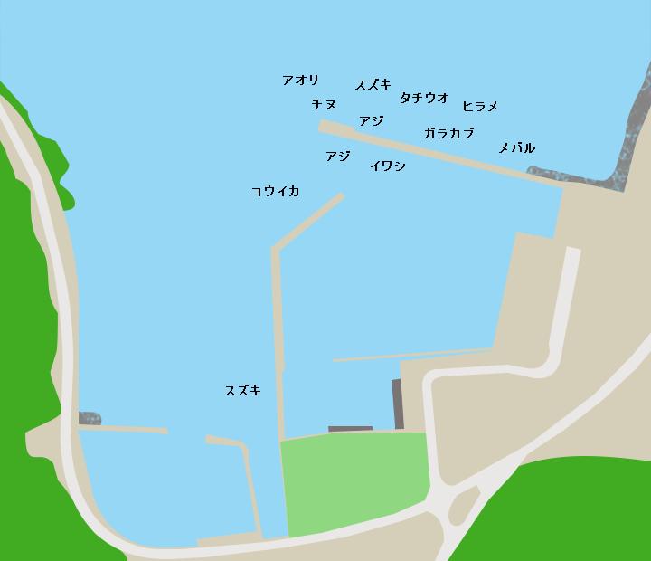 福浜漁港ポイント図
