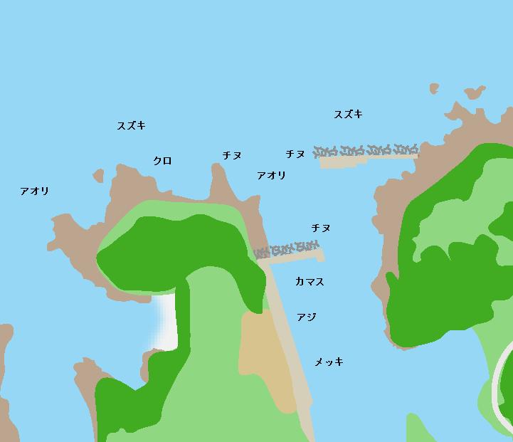 大川漁港ポイント図